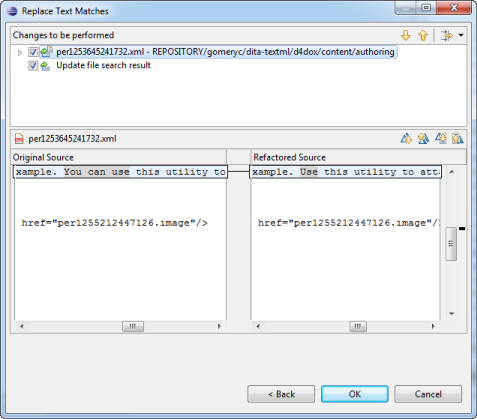 Search and replace the XML content of a map