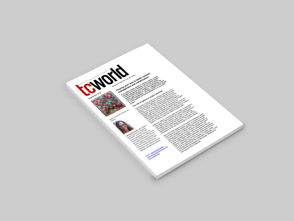 title page for TC world article