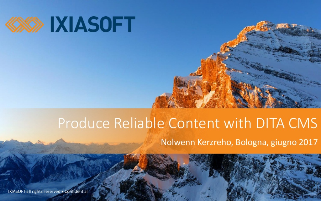 title page for slideshare presentation from IXIASOFT