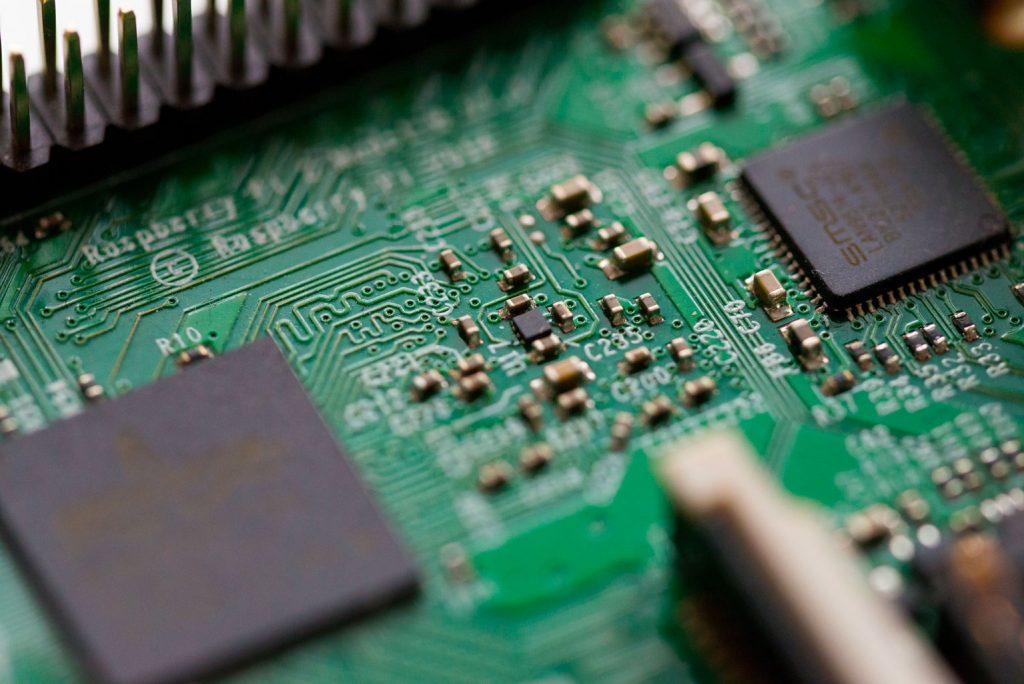 close-up shot of semiconductors