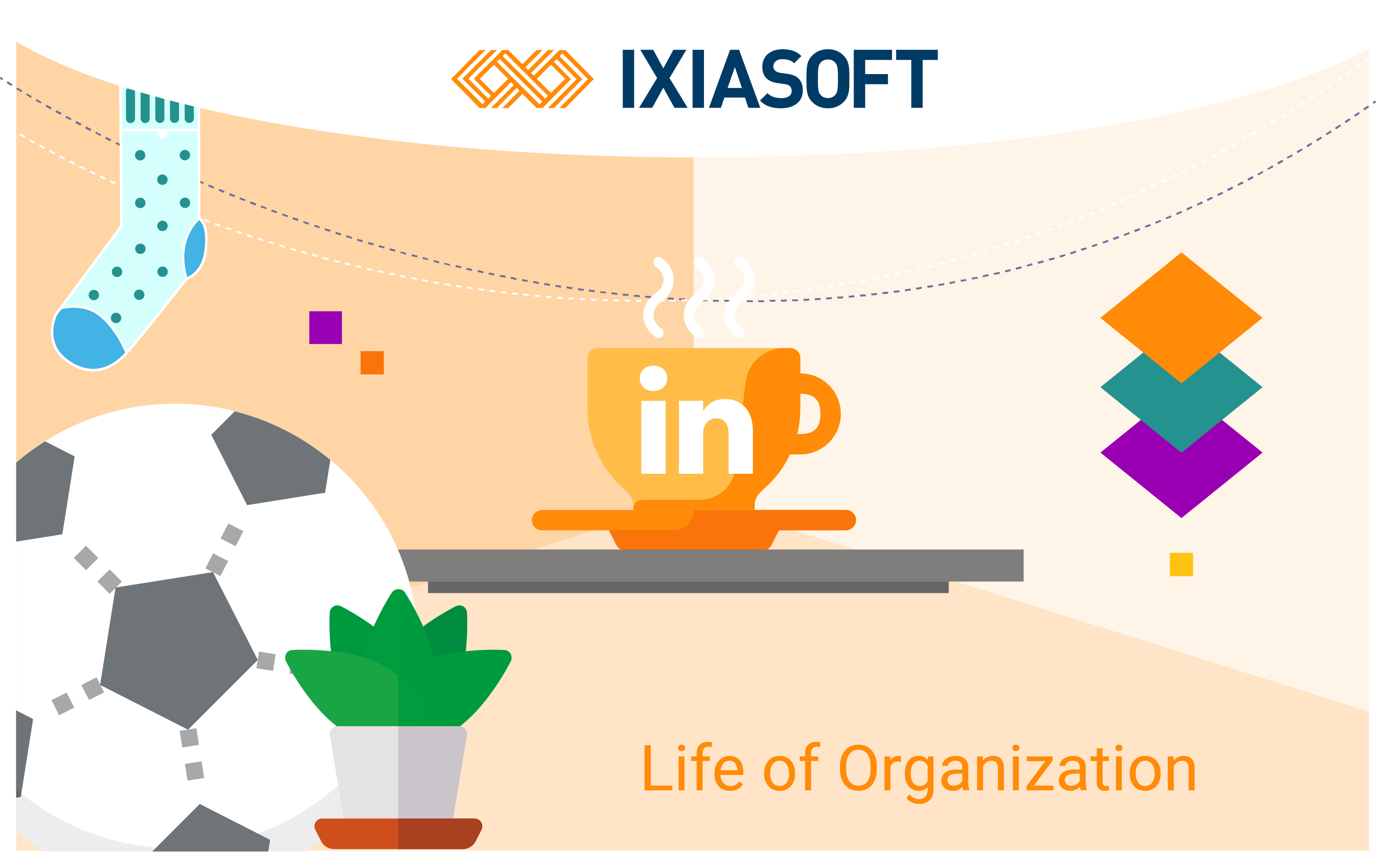 Graphic of life of organization at IXIASOFT.