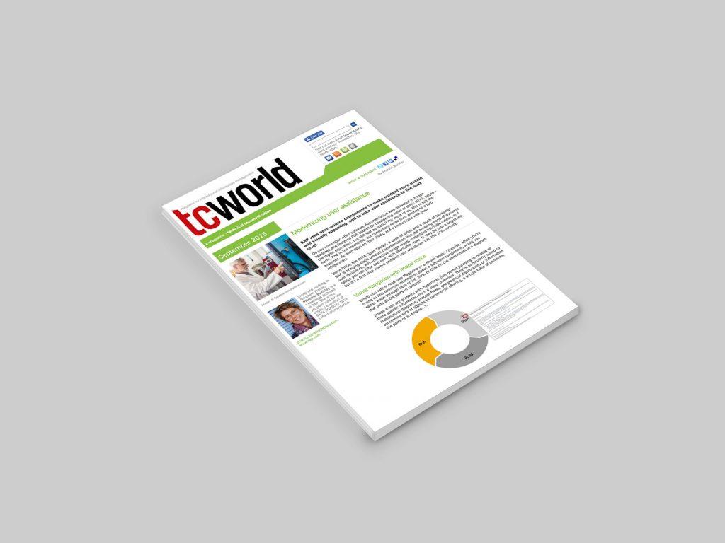 Screenshot of TCWorld PDF article on Modernizing User Assistance.