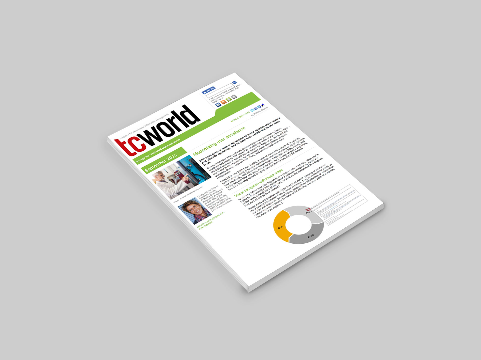 Screenshot of TCWorld PDF article on Modernizing User Assistance.