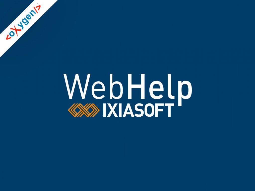 IXIASOFT Releases New Add-on: oXygen WebHelp for IXIASOFT CCMS