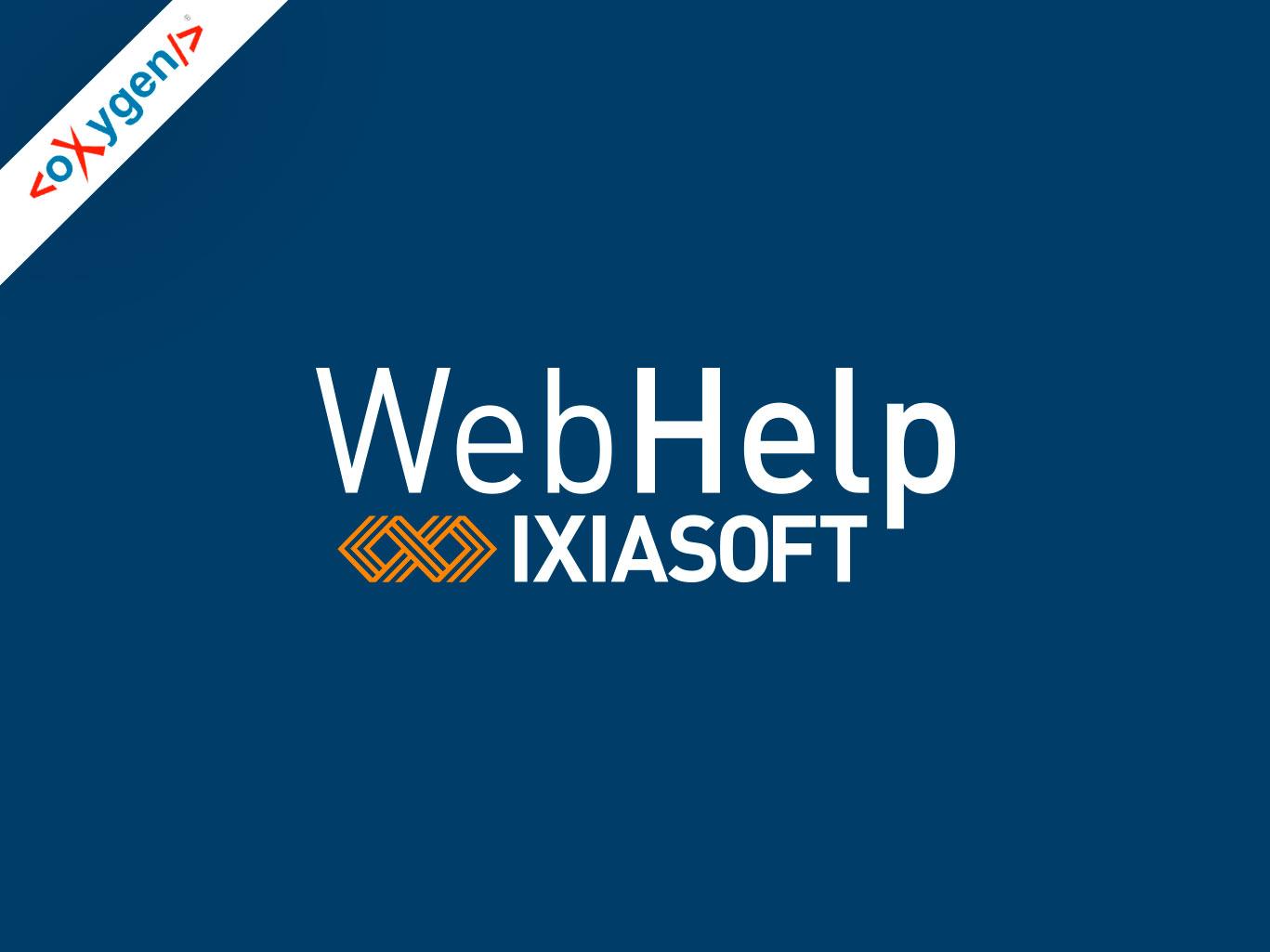 Logo for oXygen WebHelp for IXIASOFT CCMS.