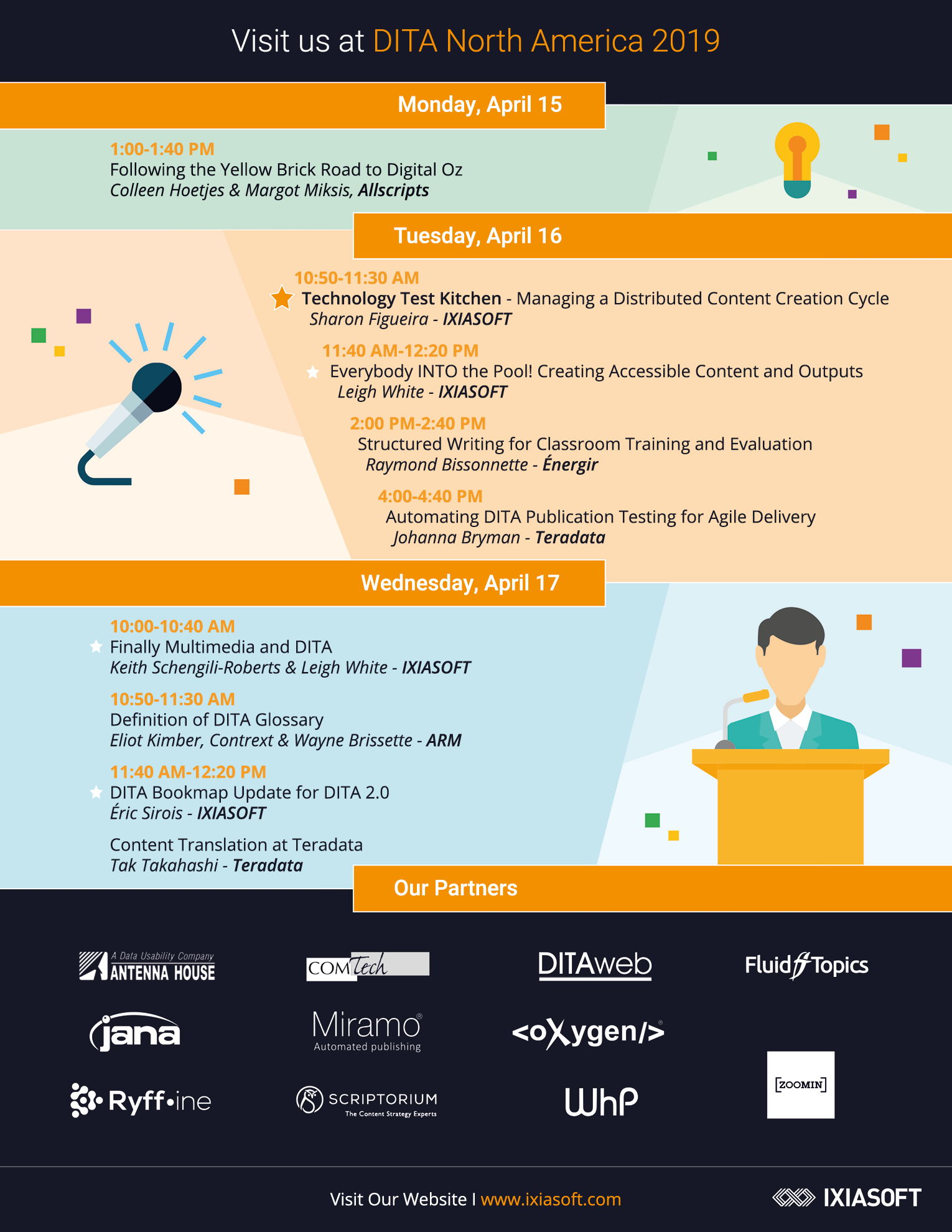 Calendrier des événements - Conférences et salons - IXIASOFT CCMS