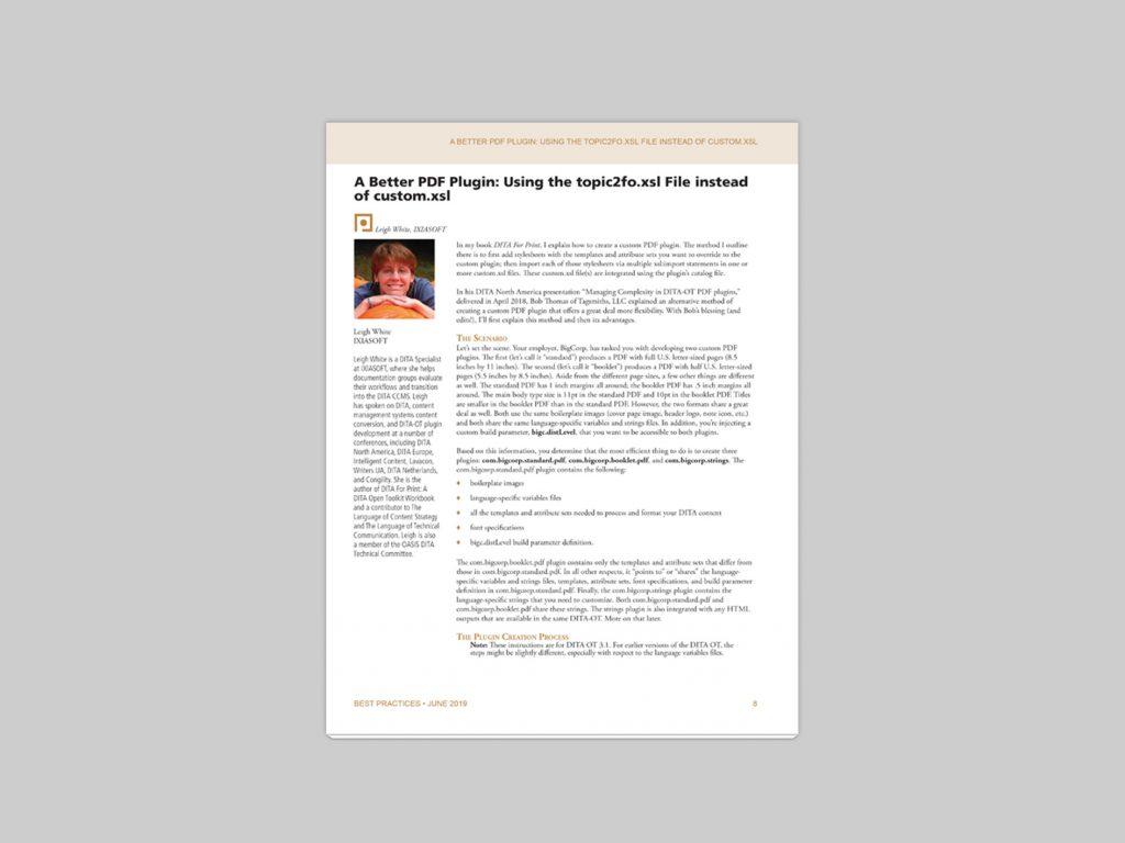 A Better PDF Plugin: Using the topic2fo.xsl File instead of custom.xsl